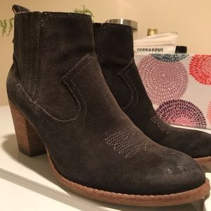 Western style dolce vita gray heeled booties